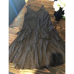 Polo Ralph Lauren Drop Waist Lace Dress Sz 12
